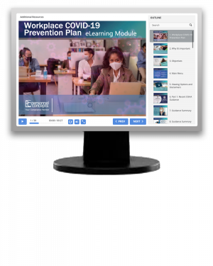 Workplace COVID-19 Prevention Plan (eLearning module)