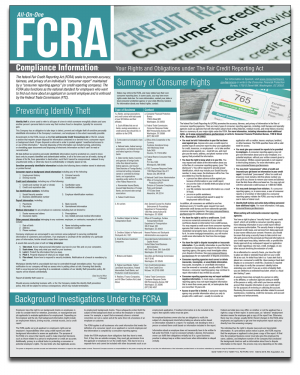 All-On-One FCRA Notification Poster