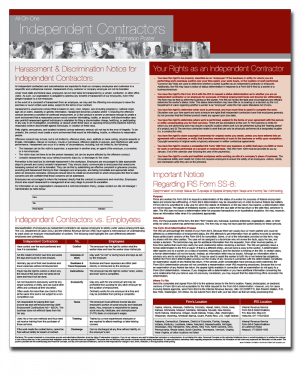 All-On-One Independent Contractors Poster