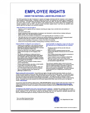 NLRA Employee Rights Poster