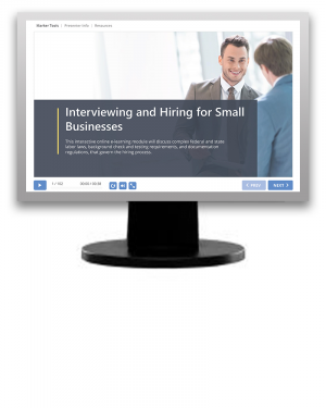 Interviewing & Hiring Program for Small Businesses (eLearning Module)